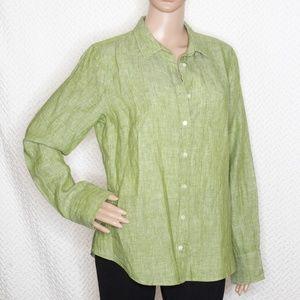J. Crew BAIRD McNUTT Irish Linen Perfect fit shirt